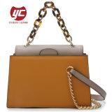 A cor de contraste em couro Senhoras bag bolsa Crossbody