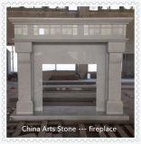 De in het groot Witte/Zwarte Marmeren Open haard van de Steen van de Jade voor de Decoratie van het Huis