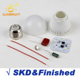 Fábrica de China Wholesale SKD de plástico aluminio bombilla LED de las materias primas
