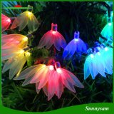 20levou Four-Leaf Flower String Solar Luz Luz decorativa de Natal no exterior