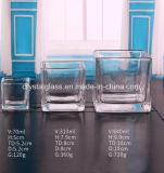 Gustomized prägte Glaskerze-Glas mit Fabrik-Preis