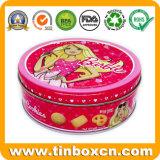 Ronda personalizada Lata, caja de estaño, la comida de estaño, estaño metal Embalaje para dulces, chocolate, galletas, galletas y Snacks