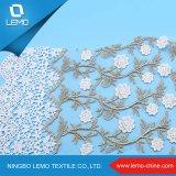 新しいデザイン化学ギピールレースの100%年の刺繍のレースファブリック