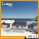 Огнеупорные Sunproof современный холл из алюминия в Саду стул дешевые патио стол и стул диван, мебель с красными подушечки