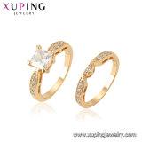 Les cristaux de bijoux de mode de Luxe Bague nuptiale Parti de nouvelle conception de bijoux de couleur argent Round Charm bague de mariage