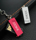 De metal delgado Mini mazorca Tarjeta de memoria USB con llavero