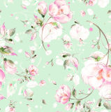 طبعة خاصّ بالأزهار ليّنة يحاك 100% بوليستر أطلس [سقوين] بناء نسيج