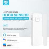 2,4 Tuya APP против кражи WiFi двери окно тревожных сигналов тревоги датчика двери беспроводной встроенный литиевый аккумулятор
