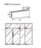 Нержавеющая сталь 304 Dimon/струбцина двери алюминиевого сплава стеклянная, заплата приспосабливая стекло 8-12mm, штуцер заплаты для стеклянной двери (DM-MJ 020)
