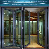 2 paneles de 8 paneles de la puerta plegable de aluminio con color