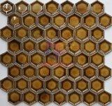 黄色い艶出しの表面の陶磁器のモザイク(CST252)