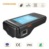 Streepjescode en Qr Printer, Android 4G WiFi POS Terminal met Fingerprint Sensor en HF RFID Smart Card Reader
