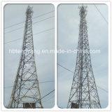 torretta d'acciaio galvanizzata di telecomunicazione di angolo della grata del TUFFO caldo di 35m