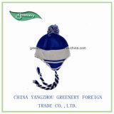 昇進の正常な様式の冬のEarflapの灰色および青の帽子