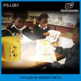 3.4W lanterne solaire d'acide de plomb rechargeable de lampe du panneau solaire 4500mAh DEL avec des lumières du relevé 2PCS