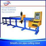 Máquina de estaca redonda do plasma do CNC da tubulação da linha central do pequeno diâmetro 3 para o Kr-Xys da venda