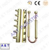 黄銅で黄銅から成っているCNC OEM ODMの機械装置部品を分ける