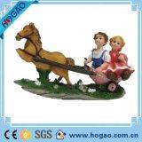 Polyresin свадебных подарков статую с машину большего размера