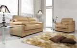 居間の本革のソファー(C520B)