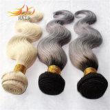Tessuto dei capelli di colore chiaro di colore di Ombre di tono dei capelli due di Remy del Cambodian di 100%