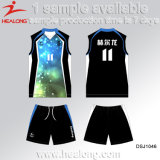 Pallavolo completa Jersey degli abiti sportivi del gioco di sublimazione