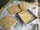 Mattonelle quadrate della stanza da bagno di pavimento delle mattonelle del miele di Onyx dei mosaici gialli del marmo