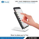 Promoción de la caliente 10W Quick Qi Wireless Mobile/Cell Phone soporte de carga/pad/estación/soporte/cargador para iPhone/Samsung