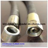 Stahldraht-umsponnener gewölbter hydraulischer Gummischlauch