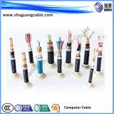 PVC изолировал защищаемый PVC кабель компьютера