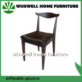固体灰の椅子(W-DC-01)を食事する木製の喫茶店の椅子の余暇