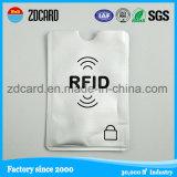 Bloqueo de la tarjeta de crédito modificado para requisitos particulares de la exploración del protector del portatarjetas/de la funda de RFID