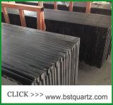 Brame conçue noire pure de pierre de quartz
