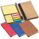 Notebook PU com notas pegajosas nas cores Differnet.