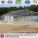 Taller prefabricado de la estructura de acero para los procesos industriales