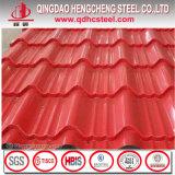 Folha Prepainted corrugada PPGL da telhadura do metal de SPCC SGCC PPGI