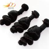 100% virgem Extensão de cabelo humano ondas soltas mongol tramas de cabelo