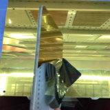 Золото зеркало заднего вида алюминиевых композитных панелей для оформление витрины магазина