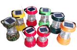 Solar-LED-kampierende Laterne-Lampen-Licht-Doppelt-Sonnenkollektoren