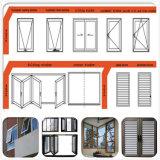 Раздвижные двери пролома двойной застеклять обеспеченности алюминиевые термально/алюминиевые двери Casement