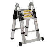 Aprovado pela GS único passo lateral da escada telescópica de alumínio