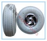 grauer Gummireifen des roller-260X85 mit der Aluminiumfelge, die keine Markierungen bildet
