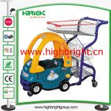 Коммерчески магазинная тележкаа детей супермаркета прогулочной коляски для малышей