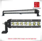 29inch 120W 크리 사람 도로 빛과 LED 모는 빛 떨어져 SUV 차 LED를 위해 방수 단 하나 줄 LED 표시등 막대의 LED 차 빛