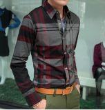 Les hommes Plaid occasionnel Chemise à manches longues (RTM1125)