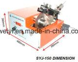 Ponto baixo de Digitas - o diamante da velocidade viu para a amostra metalográfica