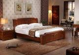 固体木のベッドの現代ダブル・ベッド(M-X2326)