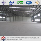 Prefabricated Metal Frame Warehouse with Parapet Wall