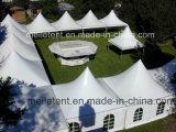 5X5m blancs sautent vers le haut la tente Chine de pagoda de dessus de toit de Gazebo