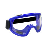 E Splash-Proof Anti-choque Blue óculos de segurança