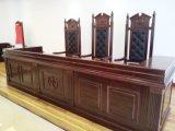 Hochwertiges Großhandelsregierungs-Zubehör-hölzerner Furnier-Blattgerichtssaal-Möbel-Richter-Tisch und Stuhl